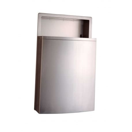 bobrick   conturaseries recessed waste receptacle