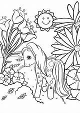 Pony Coloring Pages Colorare Mini sketch template