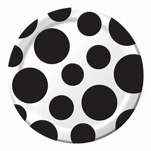 Teller Schwarz Weiß : 8 kleine papp teller punkte schwarz und wei ~ Eleganceandgraceweddings.com Haus und Dekorationen