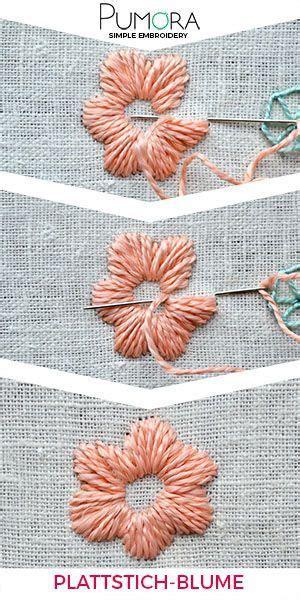 blumen sticken anleitung blumen sticken plattstich blumen stitch plattstich jeansjacke stickerei und blumen stickerei