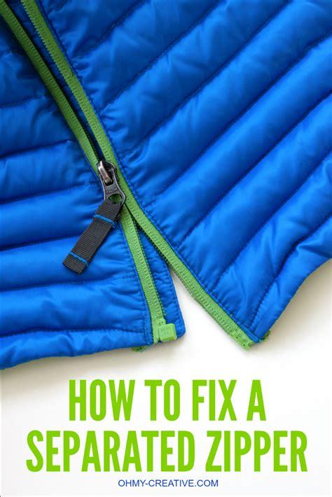how to fix a zipper how to fix a separated zipper oh my creative