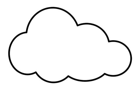 cloud template coloring images of clouds clipart best