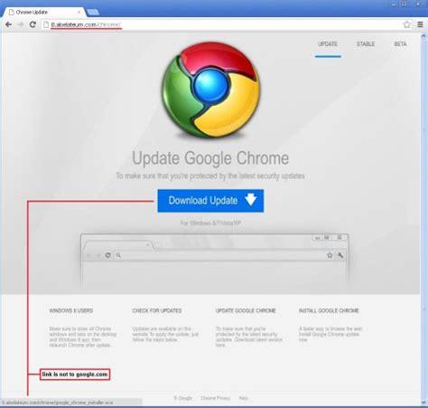 nep google chrome update installeert trojan op computer technieuws
