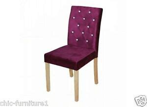 velvet upholstered diamante curved  rest black wooden legs dining chairs ebay