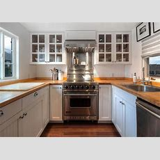 White Country Kitchen With Stainless Steel Range  Hgtv
