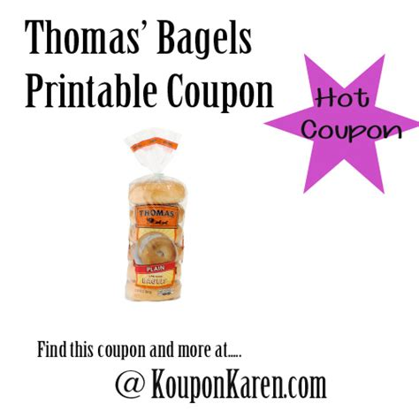thomas bagel coupons