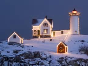 christmas lighthouse wallpapers christmas lighthouse