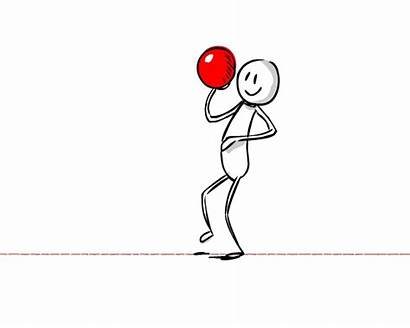 Throwing Ball Animate Character Drawing Slide Step