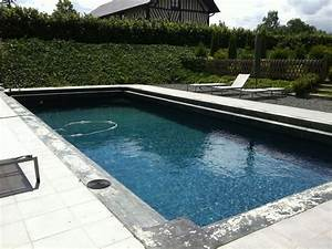piscine en maconnerie de 10 m x 5 m avec margelle en beton With piscine liner gris anthracite 13 diaporama photos de piscines dexception avec liner
