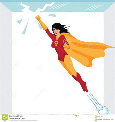 plafond en verre sensationnel de superwoman f 233 ministe illustration de vecteur image 45472502