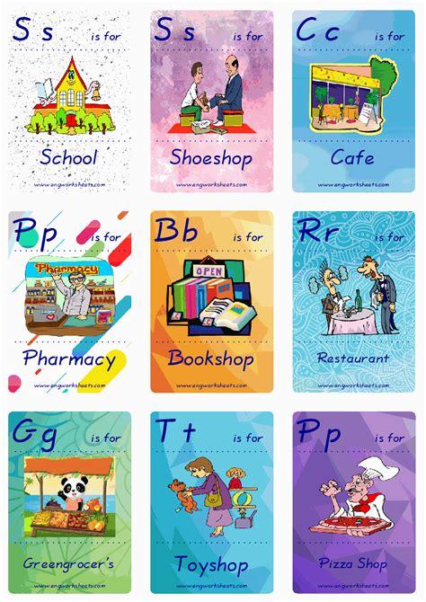 giving directions esl printable english flash cards worksheets
