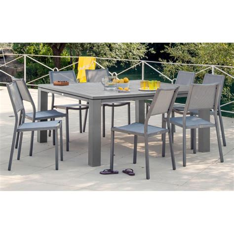 table carree de jardin table de jardin carr 233 e fiero en aluminium 160x160x74cm proloisirs