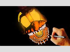 How to draw JACKOCHICA jumpscare FNAF 4 Halloween