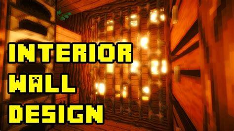 minecraft cool underground interior wall design ideas tutorial xboxpspepc youtube