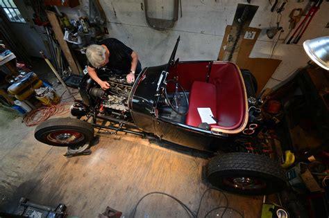 school hot rods built    car garage hot rod