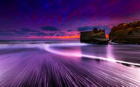 purple beach sunset wallpaper gallery