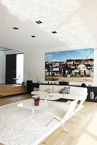 Grand Tapis Blanc : d co du salon avec un tapis 16 tapis moelleux color s shaggy ray s c t maison ~ Teatrodelosmanantiales.com Idées de Décoration