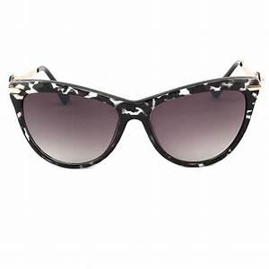 Lunette De Soleil Femme Solde : achat lunettes de soleil femme noir et blanche wave forme papillon ~ Farleysfitness.com Idées de Décoration