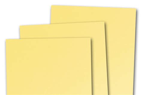 Download in under 30 seconds. Basis LIGHT YELLOW 80lb cardstock 8.5x11 - 25 pk