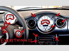 Mini Cooper Dashboard Lights, Buttons & Switches Explained