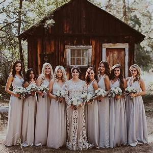 katie maloney39s rustic bridal party wore effortlessly chic With barn wedding bridesmaid dresses