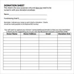 Free Template For Silent Auction Bid Sheets Sle Donation Sheet Documents In Pdf Word