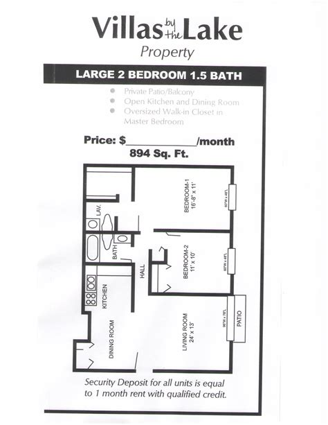 2 bedroom 1 5 bathrooms large floorplan floor plan