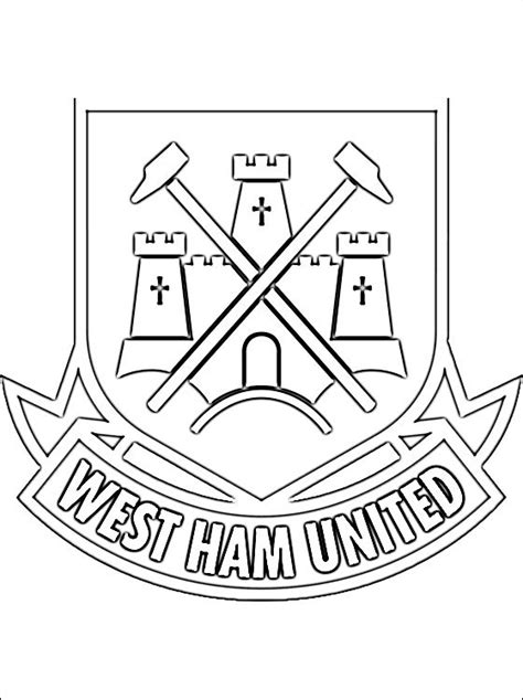 logo west ham united football club da colorare disegni