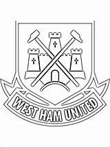 Ham United Fc Football Coloring Dibujos Colorear Colorir Coloriage Colorare Escudo Utd Kleurplaat Kleurplaten Manchester Gratis Ausmalen Zum Disegni Crest sketch template