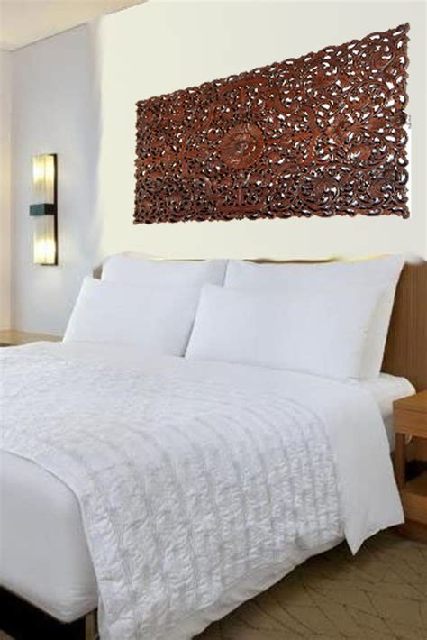 Headboard Wall Panels by Floral Wood Carved Wall Panel Wood Wall Decor For Sale