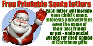 free santa claus letters With create your own letter from santa