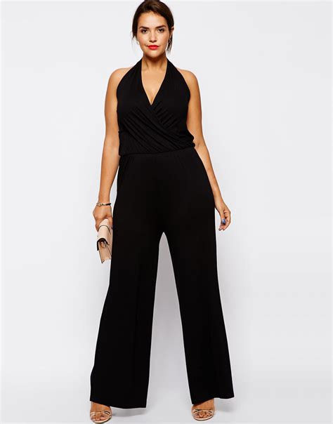 cheap plus size rompers and jumpsuits popular black halter jumpsuit buy cheap black halter