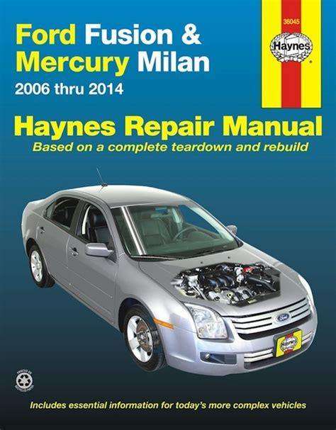 free car repair manuals 2006 ford fusion spare parts catalogs ford fusion mercury milan repair manual 2006 2014