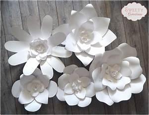 Fleur De Papier : fleurs en papier g antes d corations murales par sweety ~ Farleysfitness.com Idées de Décoration