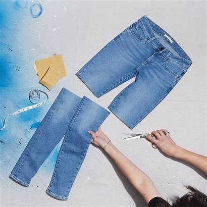 Cut Jeans Diy Into Offs Steps Levi