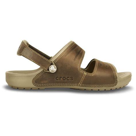 crocs yukon 2 sandal khaki espresso leather sandal