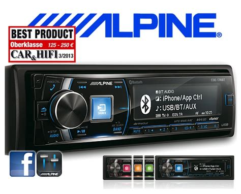 alpine cde 178bt alpine autoradio cde 178bt cd usb iphone bluetooth