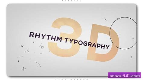 after effects templates free shared videohive 3d rhythm typography intro 187 free after effects