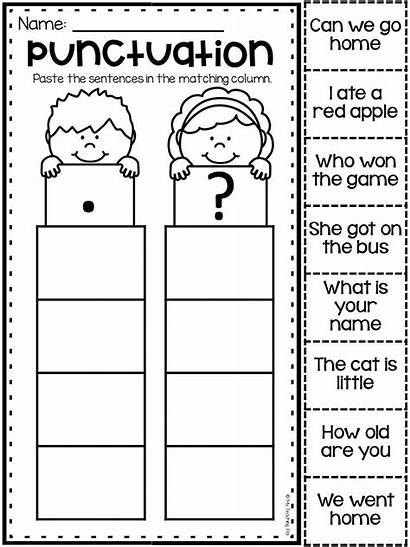 Worksheets Punctuation Kindergarten Sentences Grammar Worksheet Writing