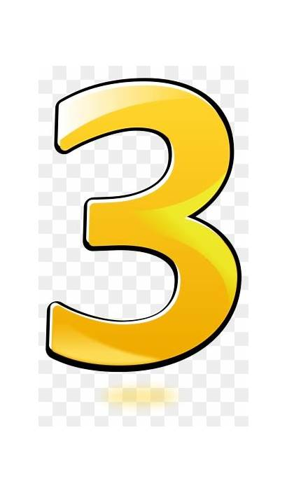 Number Clipart Orange Three