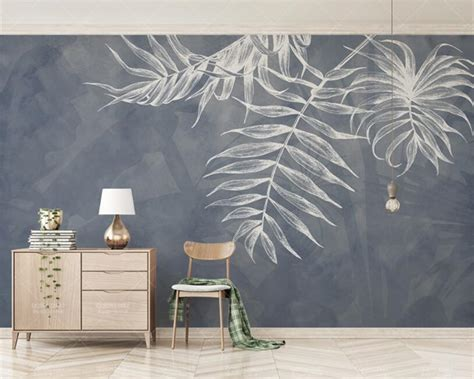 3d Wallpaper Texture For Bedroom by Custom Any Size Wallpaper Modern Style Leaf Texture