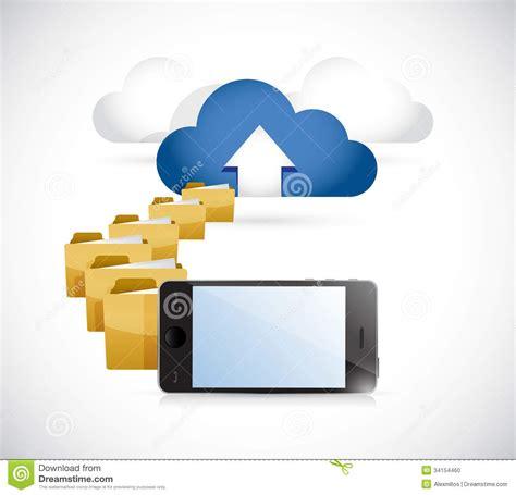phone uploading info  cloud cloud computing stock photo image