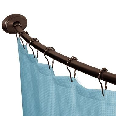 Jcpenney Tension Curtain Rods by Curved Smart Shower Rod Jcpenney Guest Bath Oil Rubbed