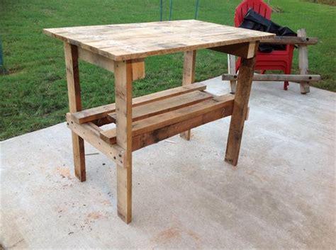 Rustic Pallet End Table  Side Table  Pallet Furniture Plans