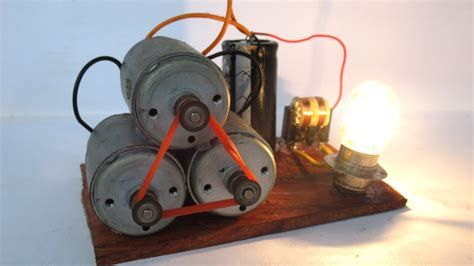 Easy Electric Motor by Free Energy Electric Motor With Light Bulbs Easy