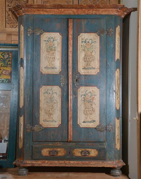 Painted Armoire Furniture Austrian Painted Armoire Painted Wood Painted Armoire