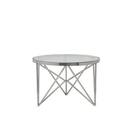 couchtisch rund glas couchtisch rund silber glas metall tisch rund verchromt metall und glas durchmesser 60 cm