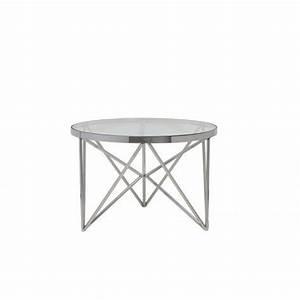 Tisch Glas Metall : couchtisch rund silber glas metall tisch rund verchromt metall und glas durchmesser 60 cm ~ Markanthonyermac.com Haus und Dekorationen
