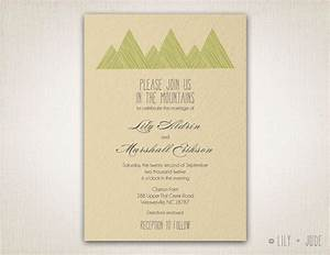 mountain wedding invitation diy digital printable With mountain wedding invitations etsy