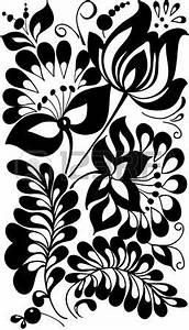Verspielter Floraler Design Stil : schwarze und wei e bl ten und bl tter floral design element im retro stil ~ Watch28wear.com Haus und Dekorationen